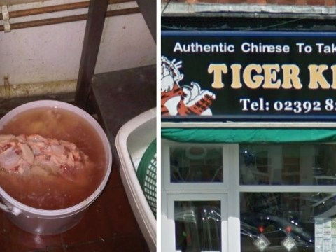 Ban for owner of takeaway where chicken was left defrosting in a bucket