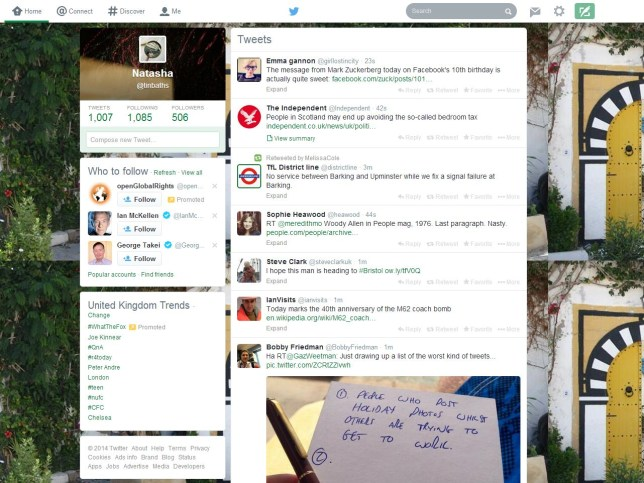 What the new-look Twitter looks like (Picture: Twitter)