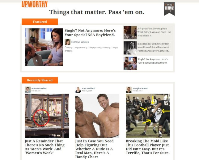The only way is Upworthy? (Picture: Upworthy)