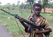 A child soldier