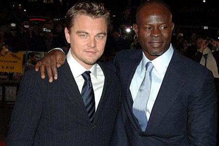 Leonardo DiCaprio and Djimon Hounsou