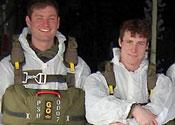 Lance Bombardier Ross Clark (left) and Lance Bombardier Liam McLaughlin