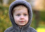 Jay Cowper, two year old hoodie