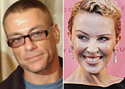 Jean-Claude Van Damme and Kylie Minogue