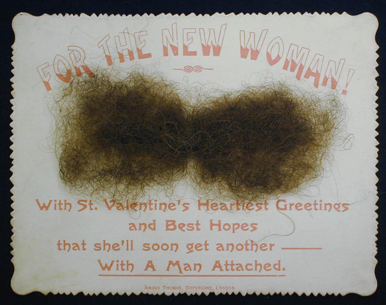 Jokey Victorian era Valentine's Day card daubed with facial hair is 'worst ever'