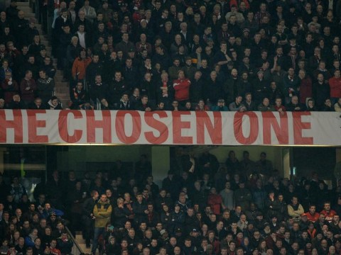 David Moyes 'Chosen One' Manchester United banner to remain at Old Trafford