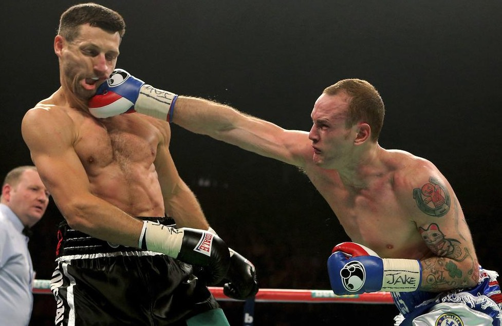 George Groves, right, and Carl Froch in action (Picture: AP)