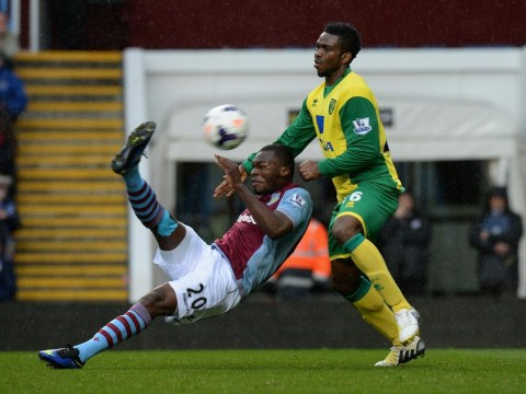 Christian Benteke admits he got lucky with his stunning strike against Norwich