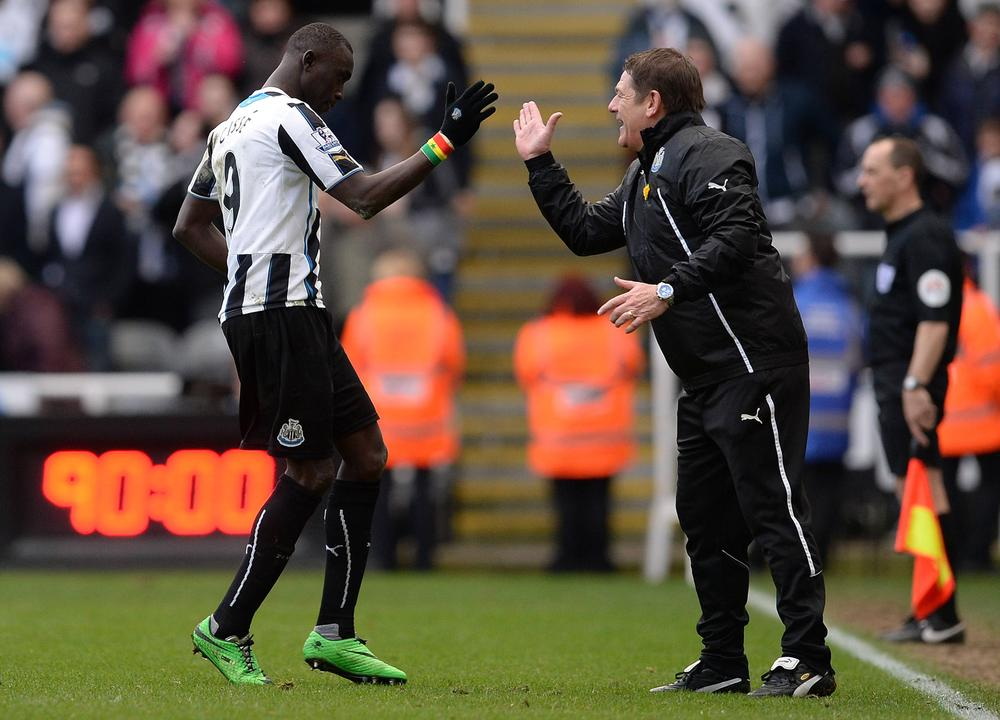 Spring is in the air! Newcastle's Hatem Ben Arfa and Papiss Cisse come out of hibernation