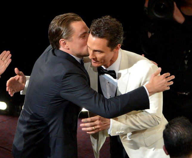 Leonardo DiCaprio took his Oscar defeat in last year's Best Actor race with good grace, congratulating winner Matthew McConaughey (Picture: Invision/AP)