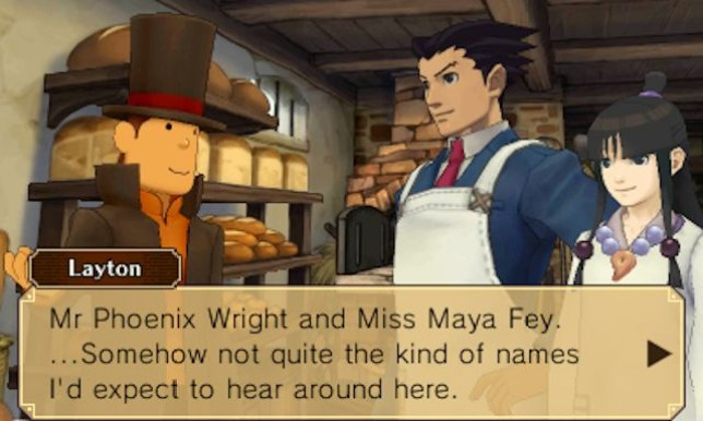 Professor Layton Vs. Phoenix Wright: Ace Attorney (3DS) – together at last