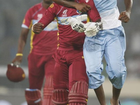 Chris Gayle celebrates West Indies' T20 win with seriously aggressive Gangnam Style – before falling over