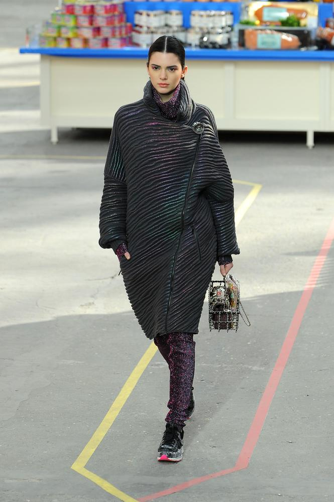 Kendall walks the Chanel show during Paris Fashion Week AW14 (Picture: Francois Durand/Getty Images)