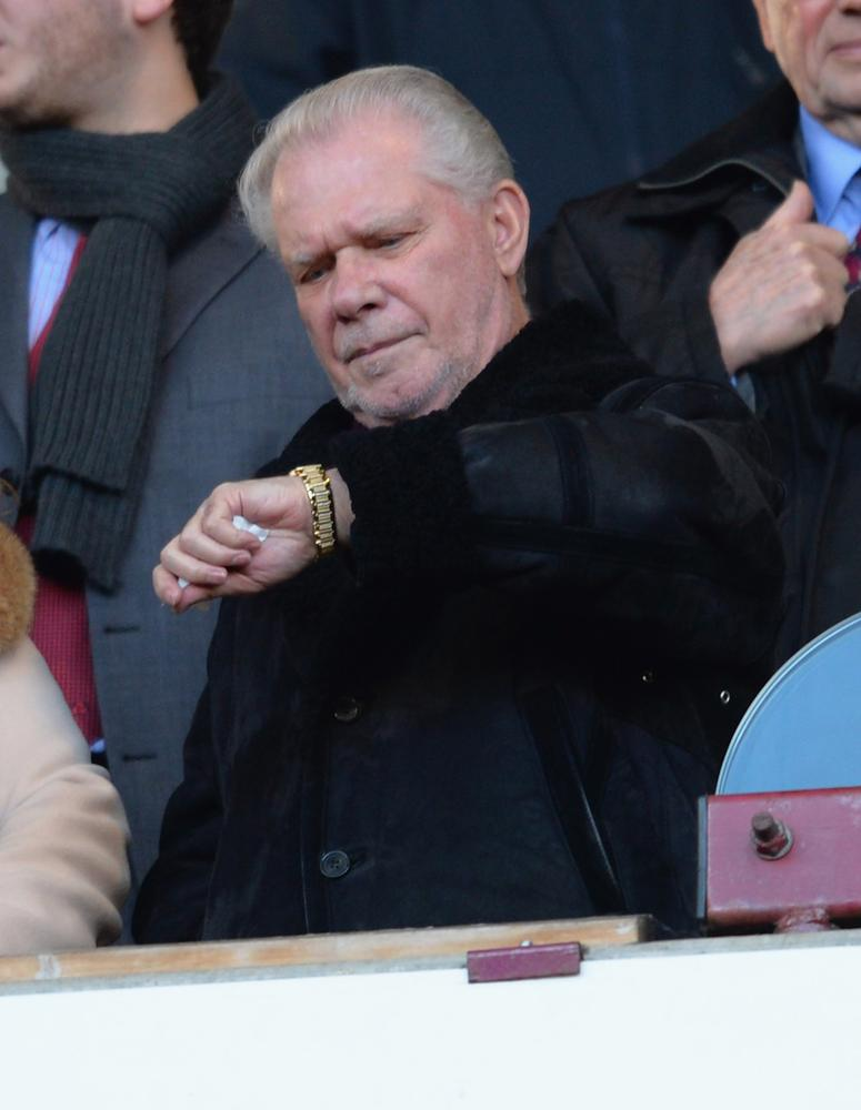David Gold urges West Ham boo-boys to get behind the team but fans want Sam Allardyce out