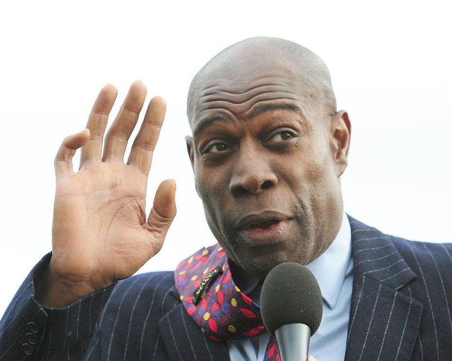 Knockout blow (dry): Frank Bruno announces plans to become a hairdresser