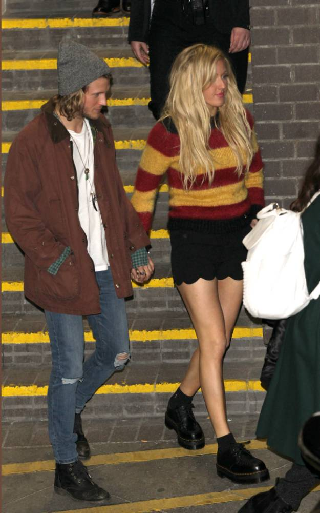 Dougie Poynter confirms Ellie Goulding romance as the coy couple are spotted hand-in-hand on night out