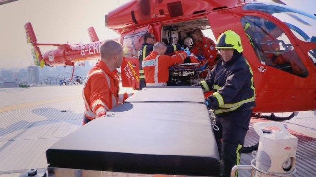 An Hour to Save Your Life: A patient arrives at the Royal London with London's Air Ambulance (Picture: Grab)