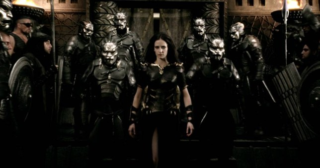 Eva Green gives it her  all as avenging Persian general Artemisia in 300: Rise Of An Empire (Picture: Warner Bros)