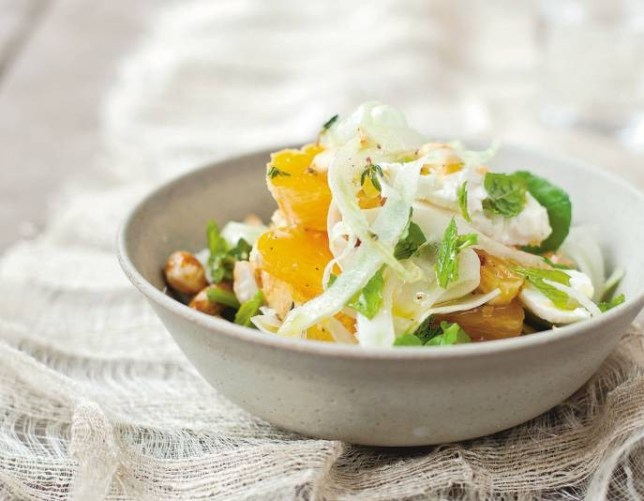Feta and orange salad with honeyed almonds by Diana Henry (Picture: Laura Edwards)