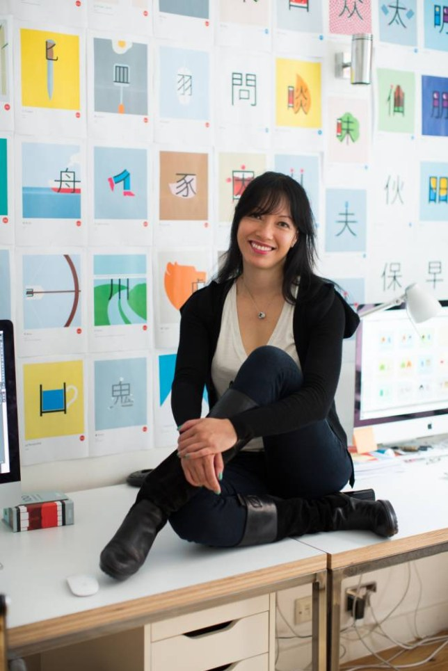 Chineasy inventor ShaoLan Hsueh (Picture: Rick Pushinsky)