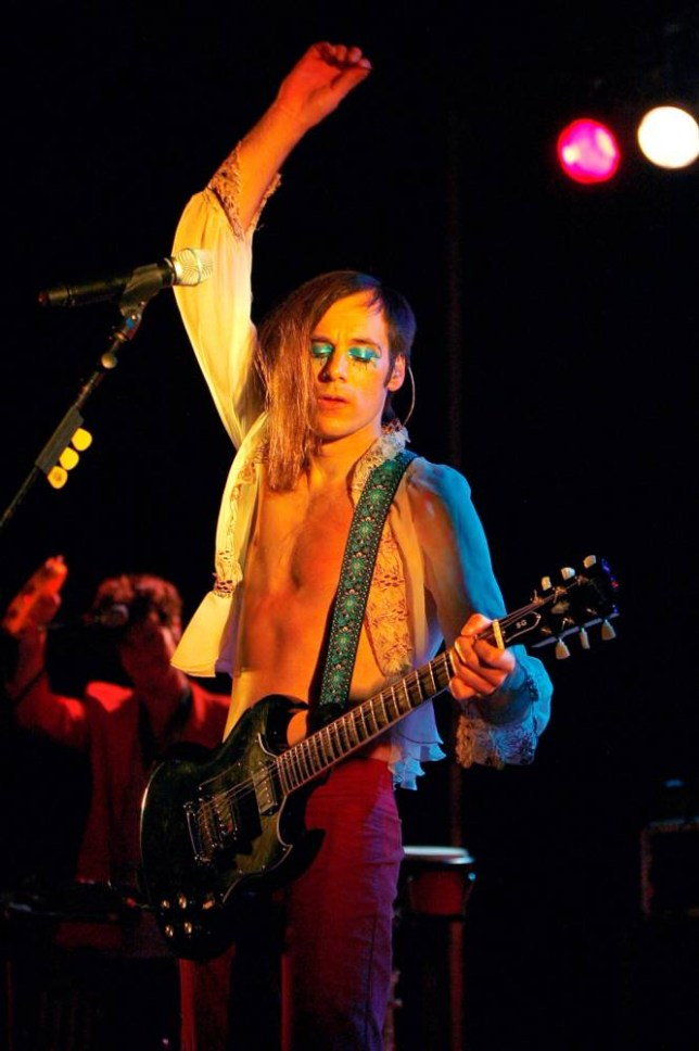Kevin Barnes of Of Montreal performs during Northside Festival 2012, New York  (Picture: Mike Lawrie/Getty)