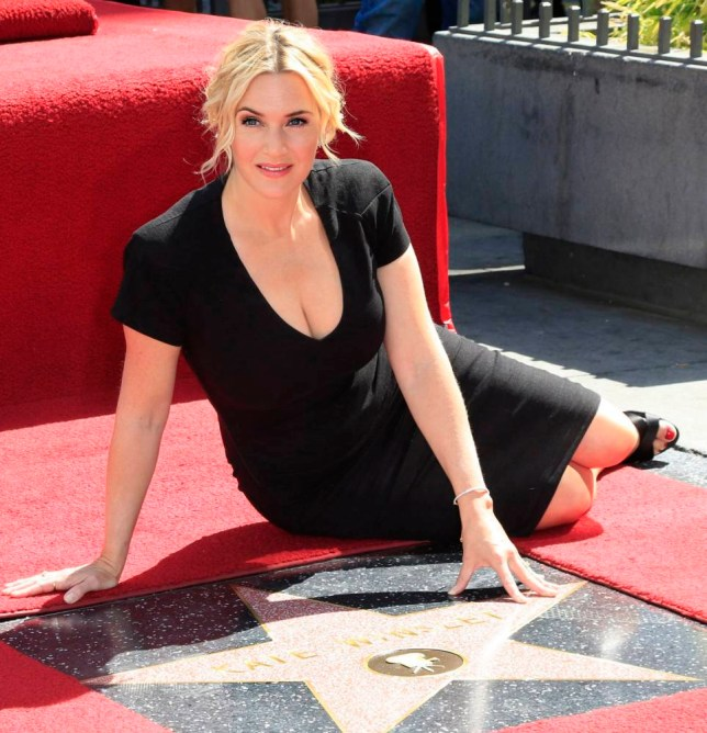 epa04130319 British actress Kate Winslet is honored with a star on the Hollywood Walk of Fame in Los Angeles, California 17 March 2014. The actress was awarded the 2520th star in the category of Motion Pictures. EPA/NINA PROMMER