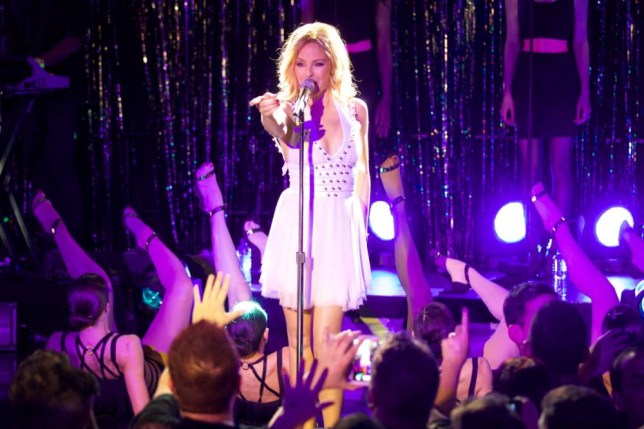 Kylie Minogue at an intimate London gig on Tuesday (Picture: Paul Hampartsoumian/Rex)