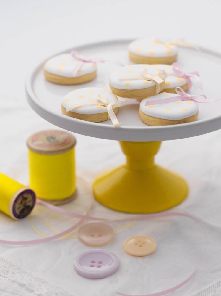 Mother's Day recipe: Polka-dot lemon shortbreads by Fiona Pearce