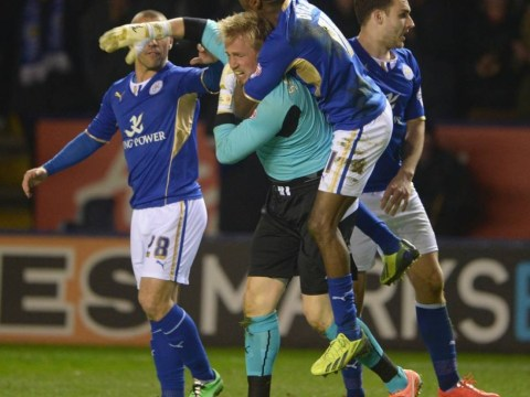 Kasper Schmeichel scores crucial last-gasp equaliser for Leicester against Yeovil