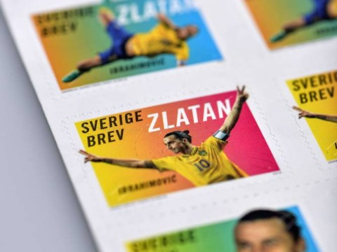 Zlatan Ibrahimovic's overhead goal against England turned into stamp collection