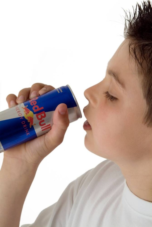 Children as young as 11 have developed a dependency on the energy drink... posed by model (Picture: File/Alamy)