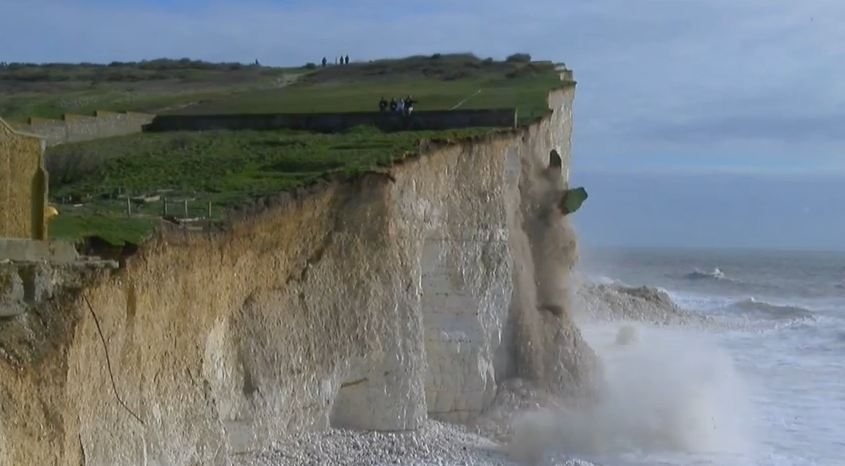 Birling Gap cliff collapse in East Sussex