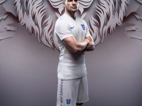 England fans look away now… Tom Cleverley chosen to model new World Cup 2014 kit
