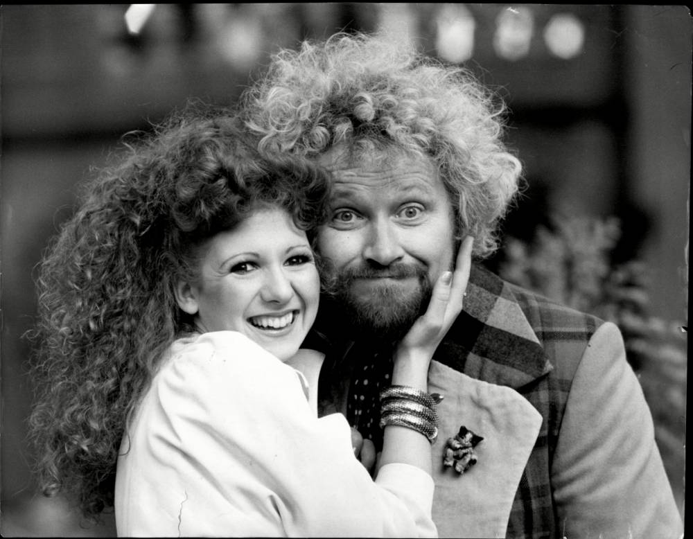 Dr Who (Colin Baker) with his new assistant Melanie (Bonnie Langford) at a photo call for the TV series . REXSCANPIX.