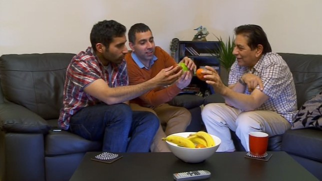 The Siddiqui family had a fruit-based science lesson (Picture: Channel 4)