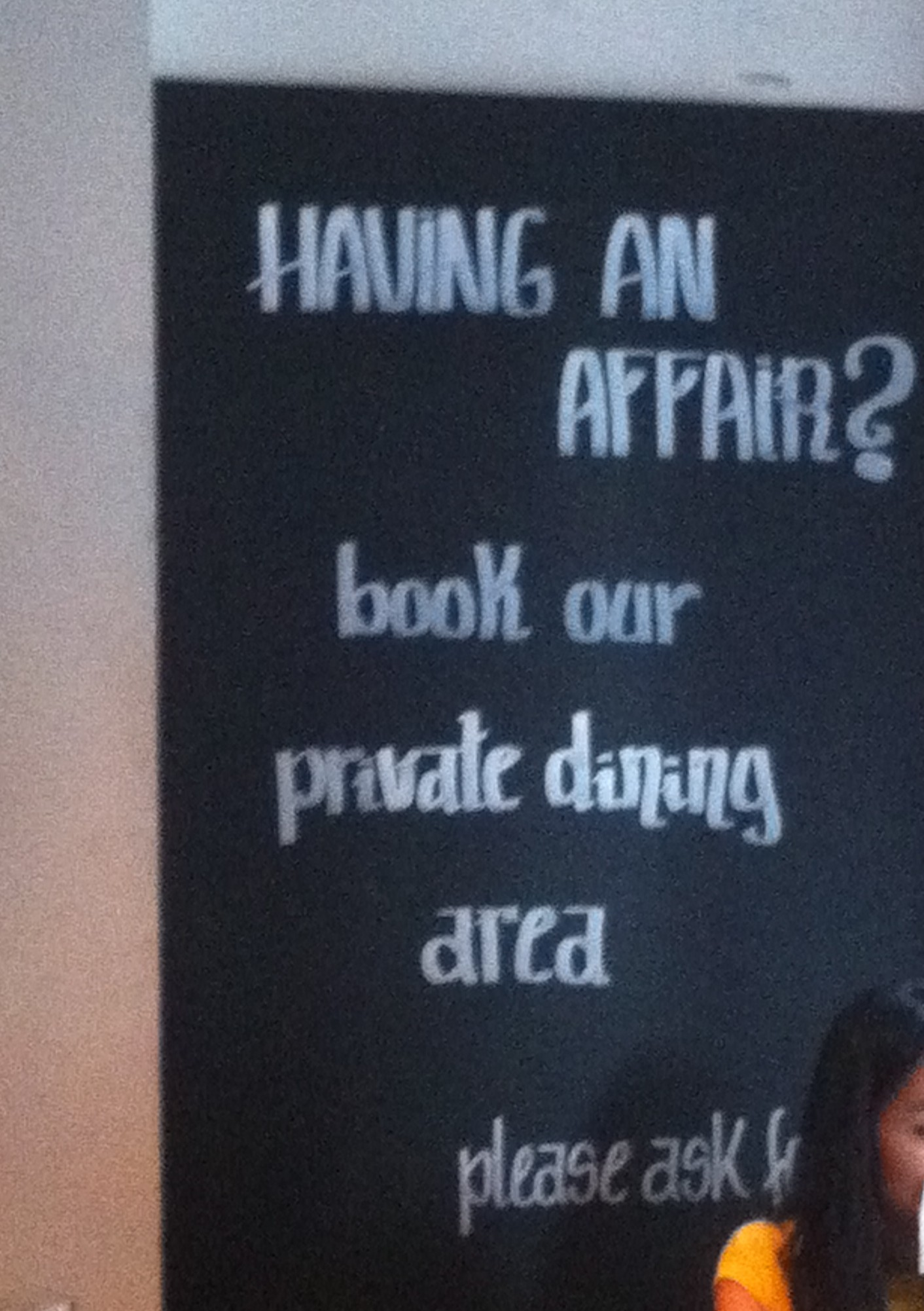 Having an affair? This restaurant has the solution to your dining-out dilemmas