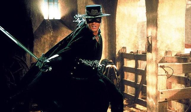 FILM, 'THE MASK OF ZORRO', 1998 starring Antonio Banderas. ...London...London...United Kingdom