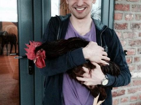 Joe Allen's girlfriend surprises Liverpool midfielder with pet rooster 'Bruce' for 24th birthday