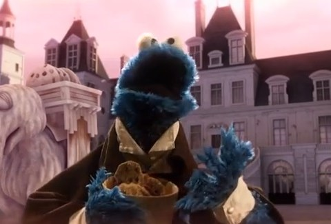 One Day S'more!: Sesame Street meets Les Miserables in cracking Cookie Monster parody
