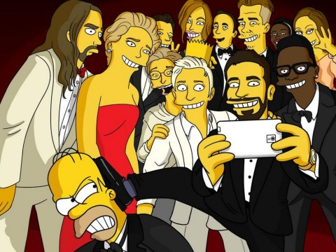 Homer Simpson tries – and fails – to get in on Oscars selfie