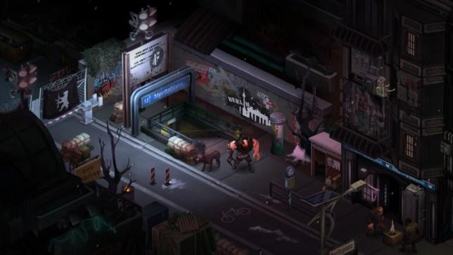 Shadowrun: Dragonfall (PC) sci-fi trolling in Neo-Berlin