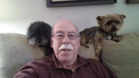 Man and his dogs have Ellen's Oscars selfie retweet record in their sights