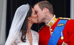 Was this royal wedding kiss an aphrodisiac in Northants? (PA)