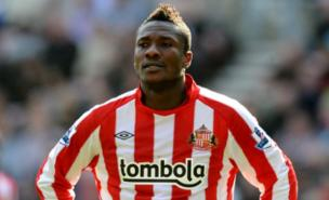 Asamoah Gyan was Sunderland's record signing (PA)
