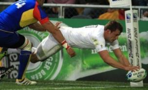 Mark Cueto scored a first-half hat-trick against Romania (PA)