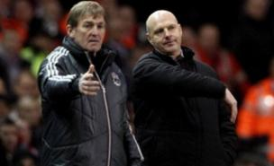 Kenny Dalglish was unhappy after his Liverpool side drew at home to Steve Kean's Blackburn Rovers (Getty Images)
