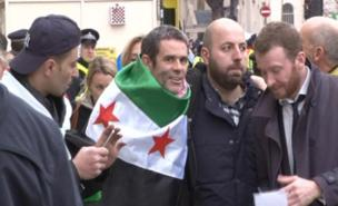 Paul Conroy was cheered by anti-Assad protesters (PA)