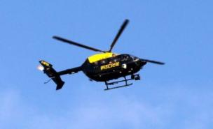 A police helicopter was used in the search for the 10-year-old girl (PA)