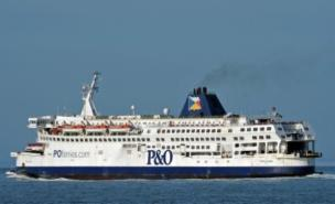 The P&O ferry was the scene of chaos as students went on the rampage (Getty)
