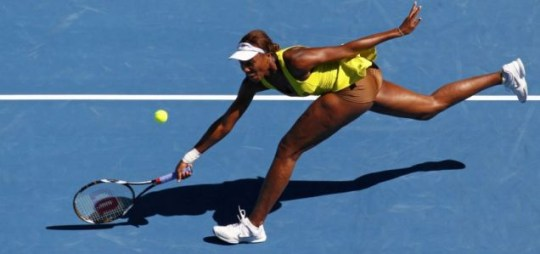 Venus Williams' flesh-coloured underwear